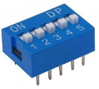 CHAVE DIP SWITCH 5VIAS 180º DS5180P
