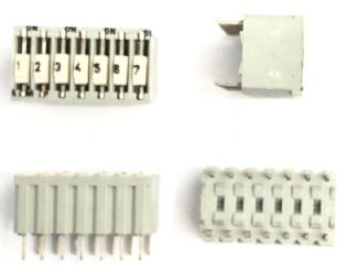 CHAVE DIP SWITCH 7VIAS 180º 9-161390-7 AMP