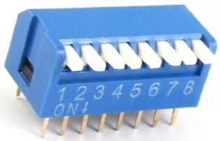 CHAVE DIP SWITCH 8VIAS 90º DS890P
