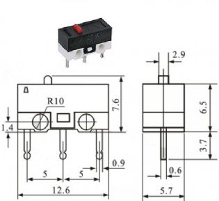CHAVE MICRO SWITCH KW10-A (KW10A)
