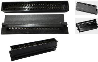 CONECTOR IDC LATCH SCSI3 68VIAS MACHO PARA FLAT CABLE CA-68NFDP-E-P MARCA TOWER