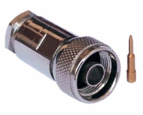 CONECTOR N 50 OHMS MACHO RETO CABO PRENSA CABO RGC-213 MC CONECTORES