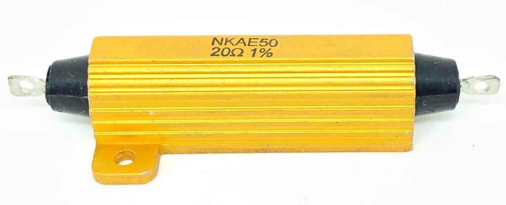 RESISTOR ALUMINIO 20R 50W 1% NKAE50