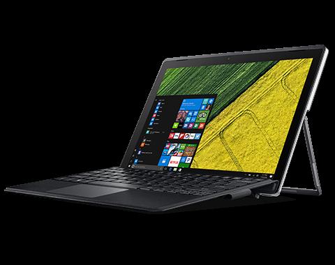 Netbook Tablet Acer SA5-271-34mn I3 2.3ghz 4GB 256 SSD tela 12 windows 10 - Cinza