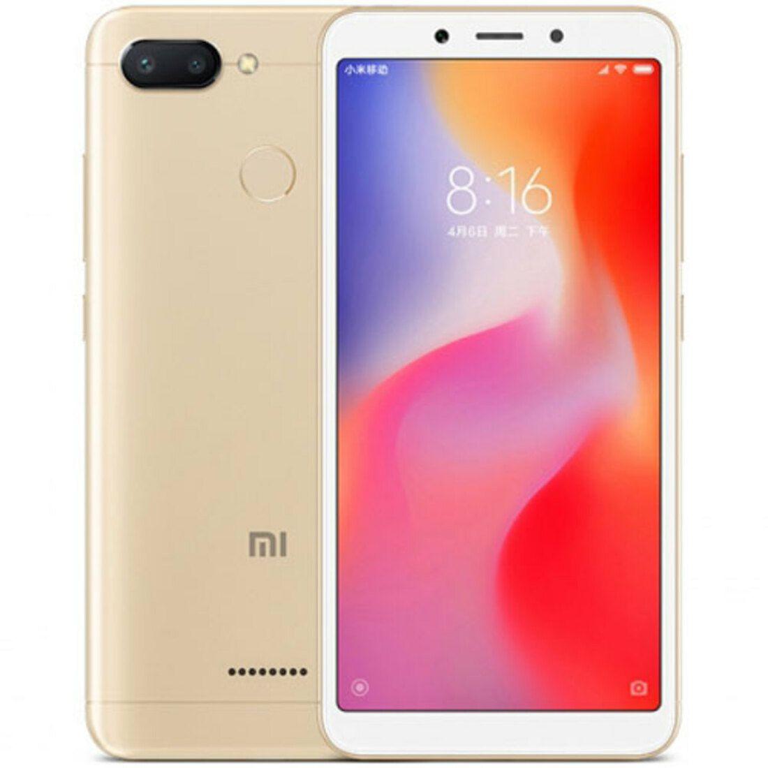 Smartphone Redmi 6 4GB Ram Tela 5.45 64GB Camera Dupla 12+5MP - Dourado