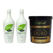 Ecoplus Escova Progressiva Defininitiva Banho Ouro 1kg