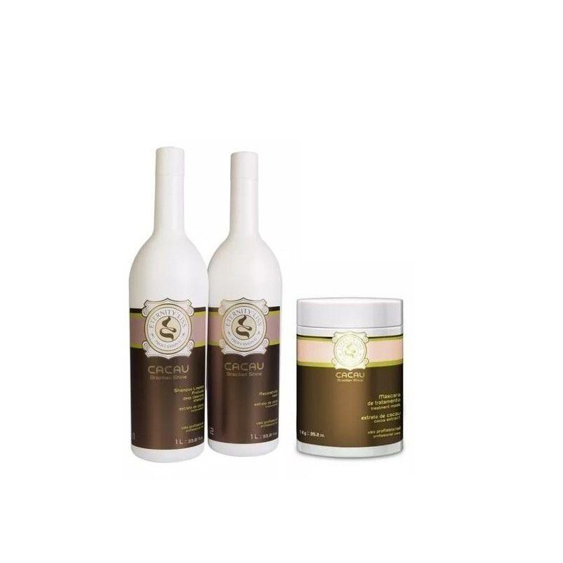 Cacau Brazilian Shine Eternity Liss Kit de tratamento 3x1000ml