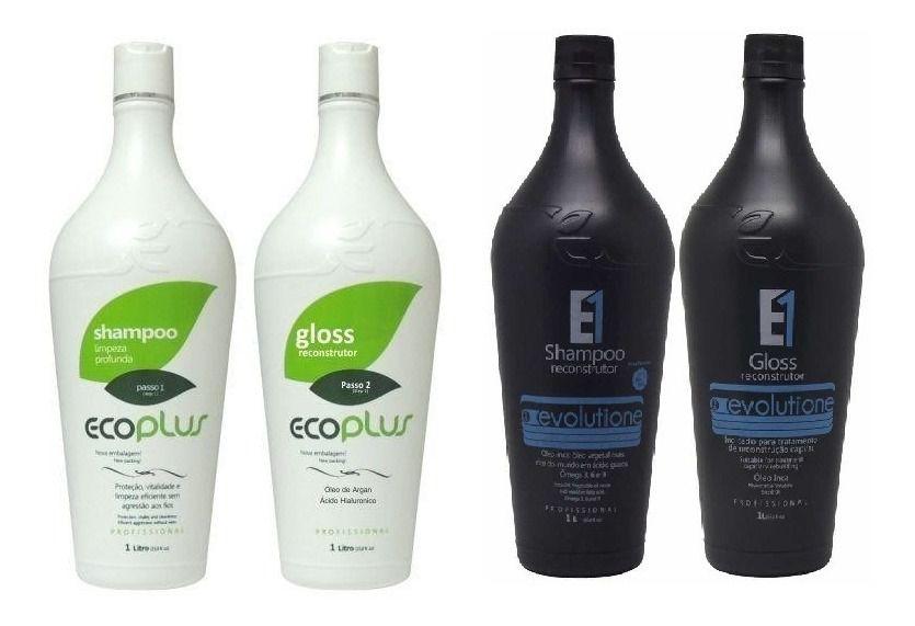 Ecoplus Escova Progressiva Definitiva Óleo Ínca E Árgan 2 kits 1 L