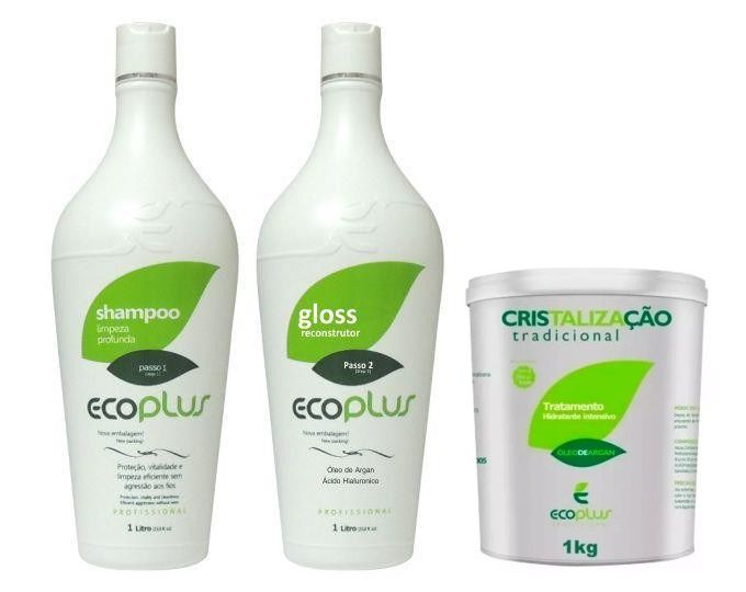 Ecoplus Escova Progressiva Óleo De Argan + Cristalização Kit