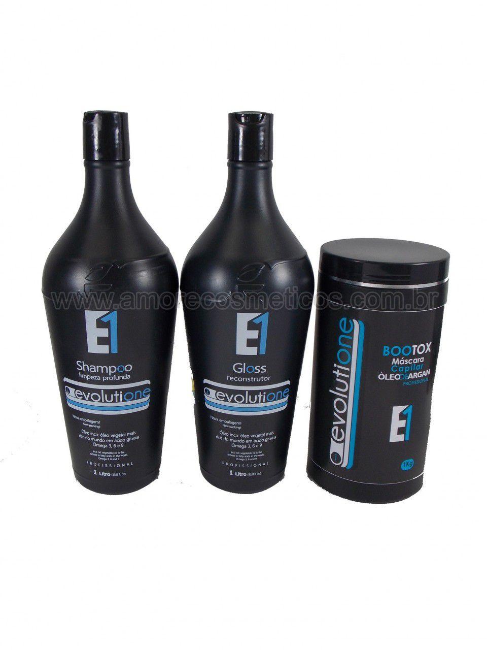 Ecoplus Escova Progressiva Óleo Inca + Botox Capilar Kit