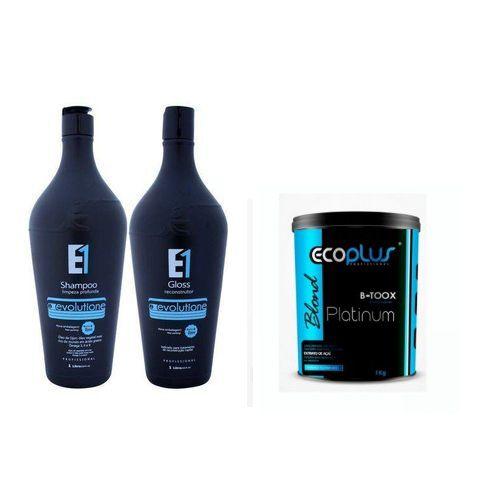 Ecoplus Evolutione Escova Progressiva Óleo Inca + Botox Platinum Kit