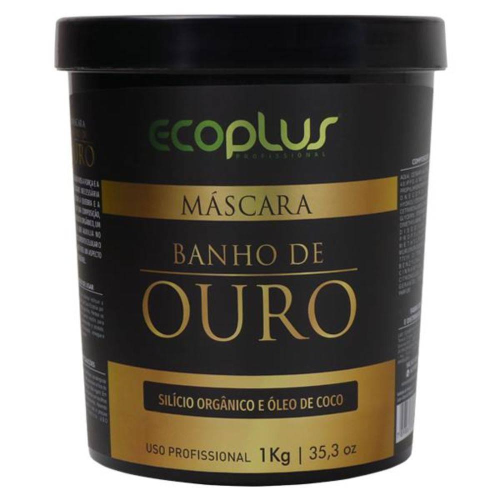 Ecoplus Máscara Hidratação Banho Ouro 1kg