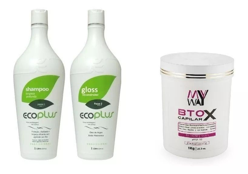 Escova Progressiva Óleo De Argan Ecoplus + Botox My Way Bb Cleam 1kg