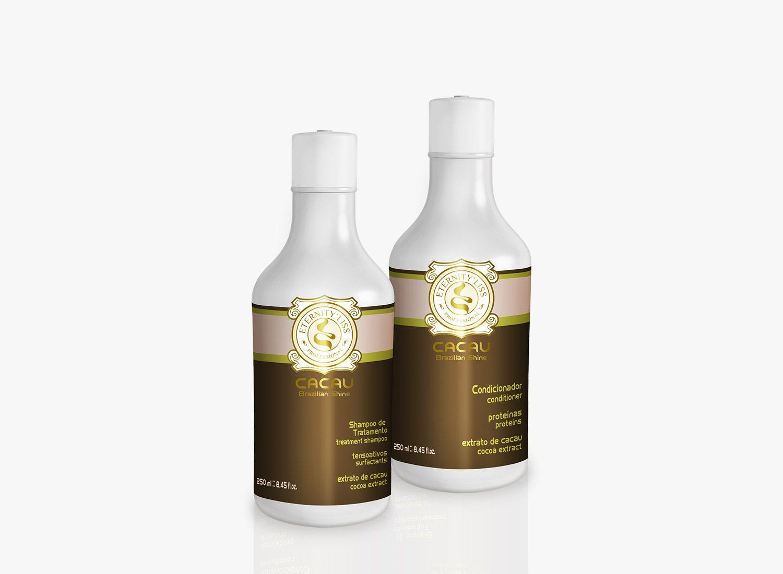 Eternity Liss Shampoo e Condicionador Cacau Brazilian Shine 250ml