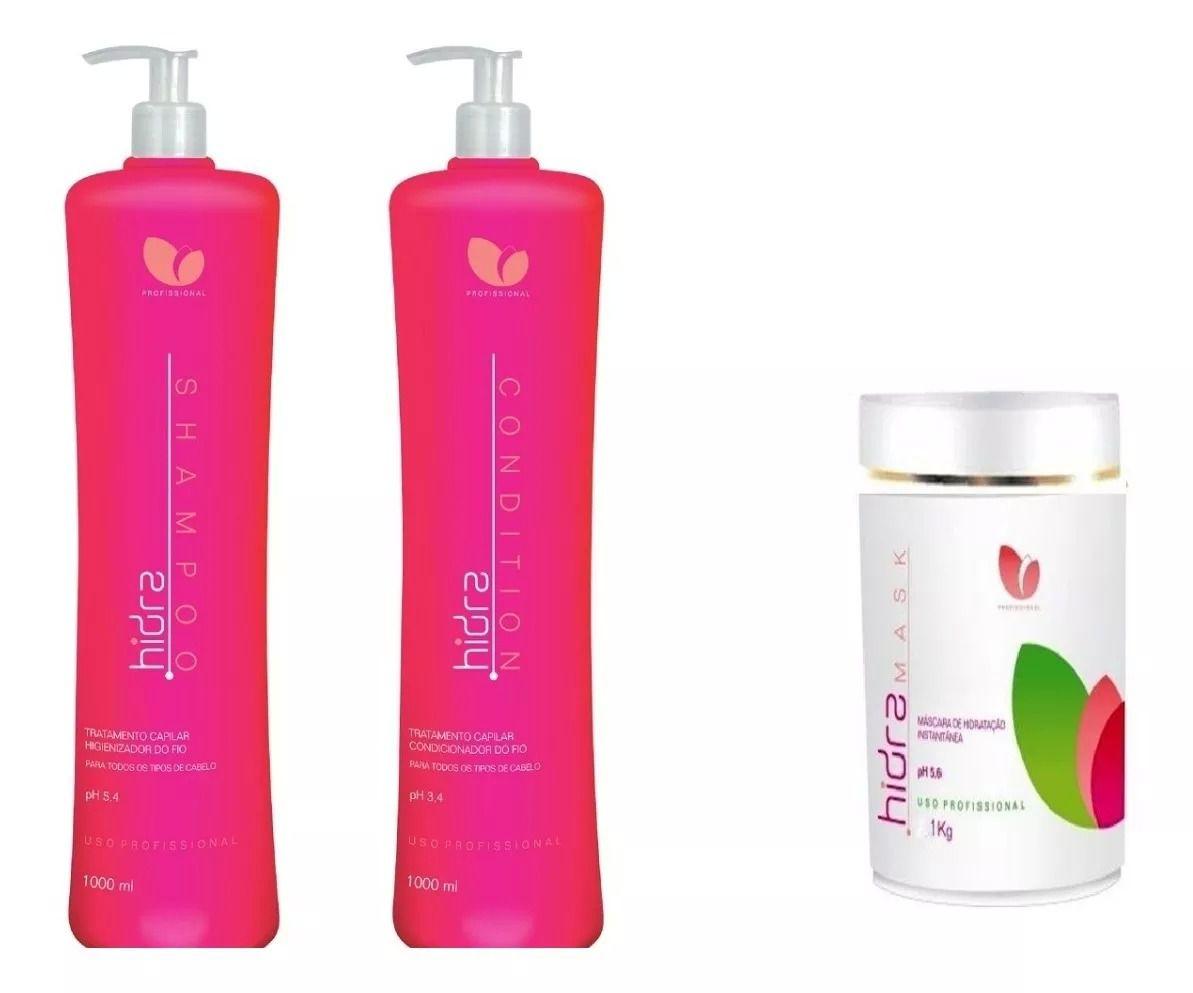 Manga Rosa Hidra Shampoo, Condicionador e Máscara Hidratação 3x1000ml