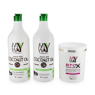My Way Escova Progressiva Coconut Oil Selagem Botox Kit