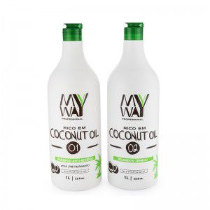 My Way Escova Progressiva Coconut Oleo De Coco Selagem kit 1000ml