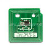 Chip Cartucho de Toner Xerox Phaser 7800 - Overprint