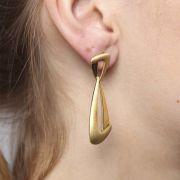 Brincos Ouro 18K Amarelo Acetinado L 35.9