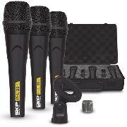 Microfone Profissional Skp Pro33k Com Case (kit com 3)