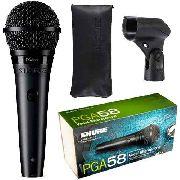 Microfone Vocal De Mão Profissional Shure Pga58-lc