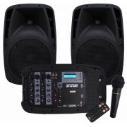 Sistema PA Caixas De Som Novik Evo 410 Bluetooth/usb/sd