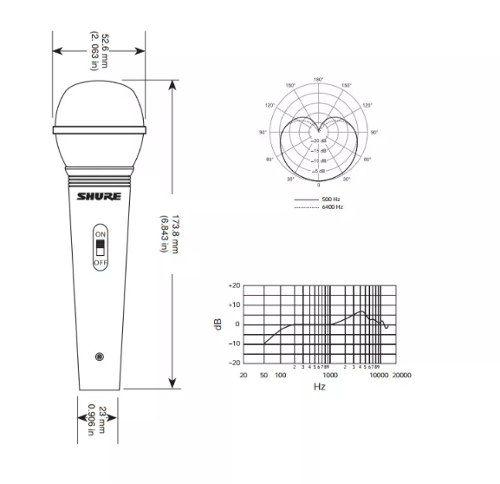 Microfone Vocal Profissional Com Fio Shure Sv100