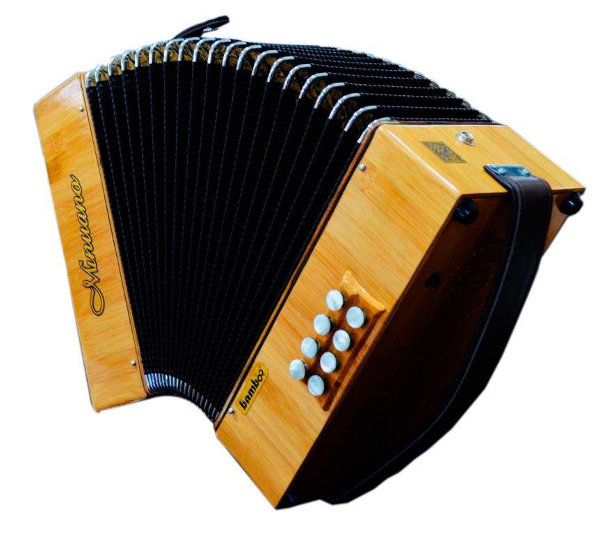 Acordeon 8 Baixos 21 Botões Musicamento Italiano 8/21 Bamboo