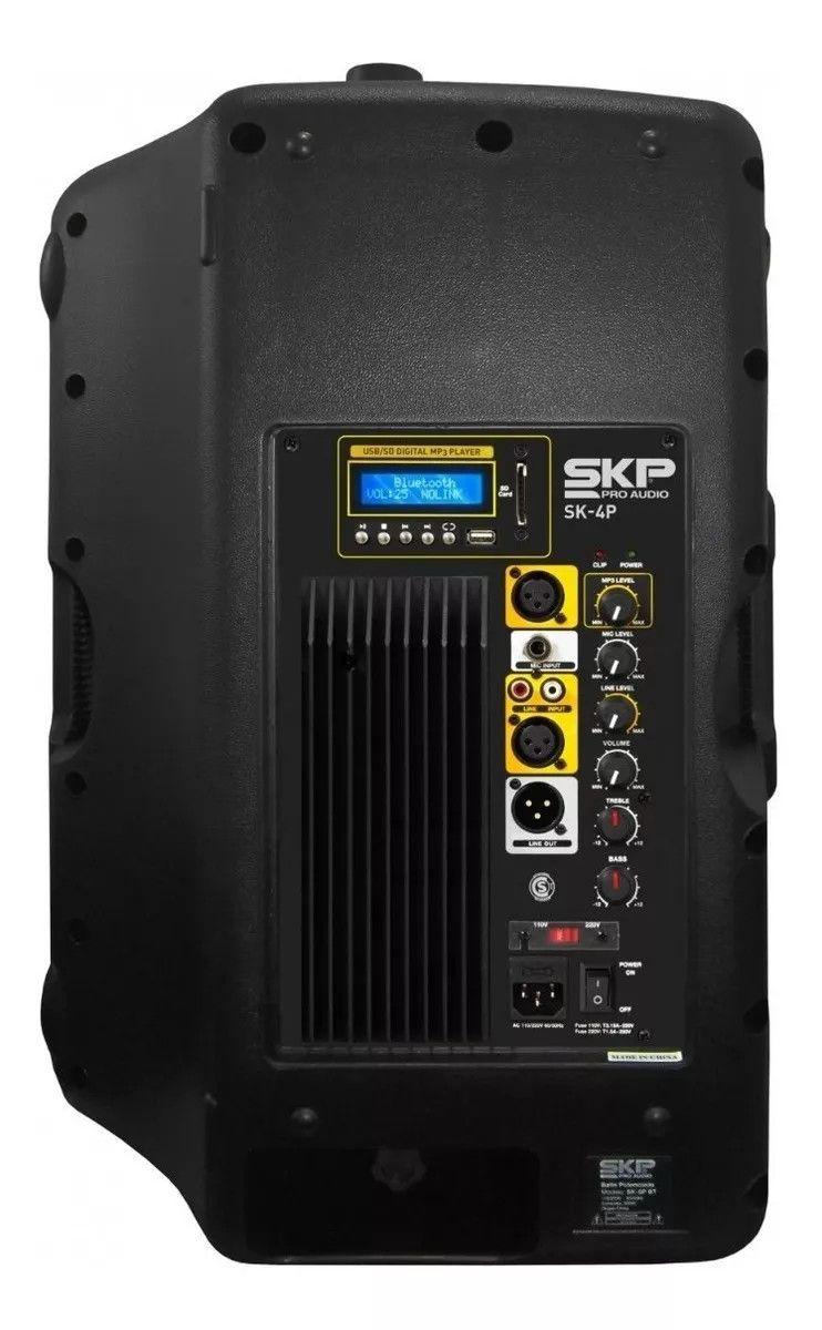 Caixa Amplificada 15'' Prof. Full Range 250w Skp Sk-4p