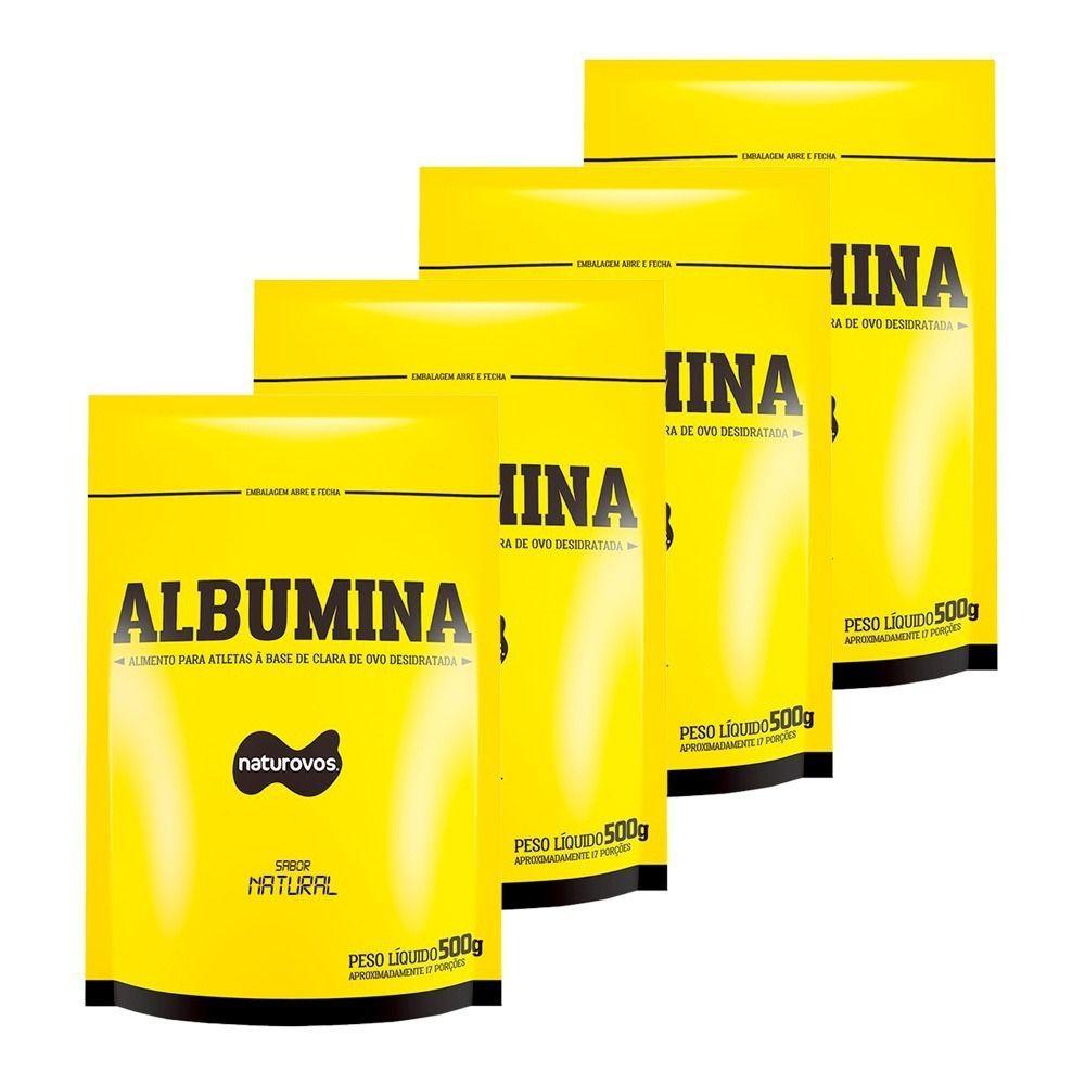Kit 4 Albumina Baunilha (500g) - Naturovos (total: 2kg)