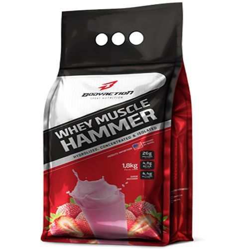Whey Hammer (REFIL) 1,8 KG BODY ACTION - Morango