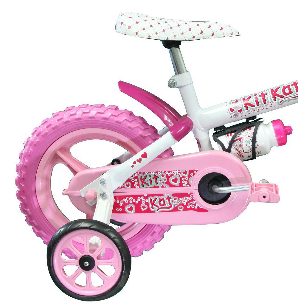 Bicicleta Track Bikes Kit Kat Infantil Aro 12 com capacete