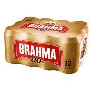 CERVEJA BRAHMA ZERO Caixa com 12 lotas - 350 ml
