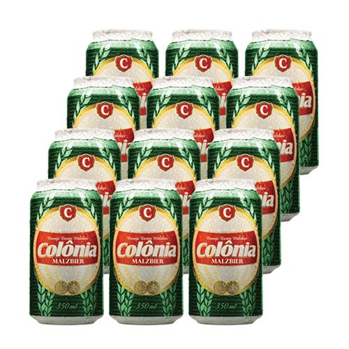 CERVEJA COLONIA MALZBIER - Caixa com 12 latas - 350ml