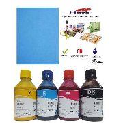 4 unidades Tinta Sublimatica 250ml Tinta Epson  Inktec + 500 Folhas A4 Havir