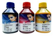 3 Unidades de  250ml Tinta Sublimatica Inktec Dti - Cyan Magenta Yellow