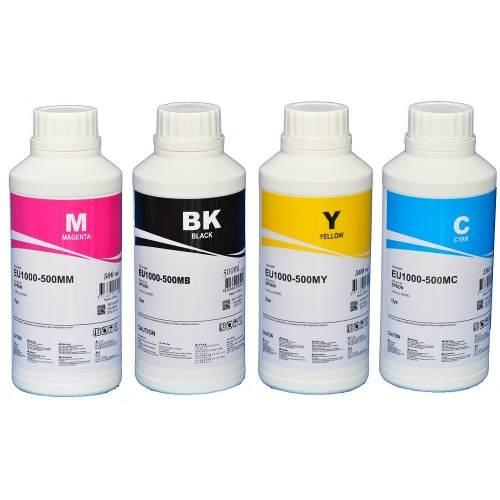 4 X 500ml Tinta Epson Ecotanque Corante Inktec Base D´água
