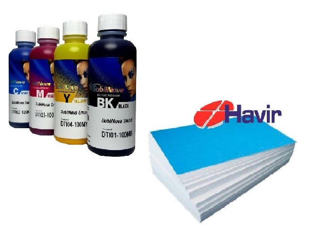 4 X 100ml Tinta Sublimatica Inktec sublinova + 100 Papel Havir A4 110g