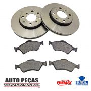 Kit Freio Disco + Pastilha Honda Fit 2004 2005 2006 2007 2008