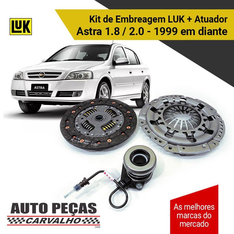 Kit Embreagem (LUK) Astra 1.8 / 2.0 8V - 1999 até 2012
