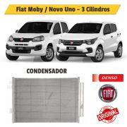 Condensador Fiat Novo Uno ou Moby 3 Cilindros BC447740-0370RC - Denso