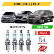 Kit 4 Velas Iridium Honda Civic, hr-v e Cr-v sxu22hcr11s - Denso