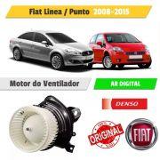 Motor Ventilador Fiat Línea ou Punto Ar Digital 12V - Denso