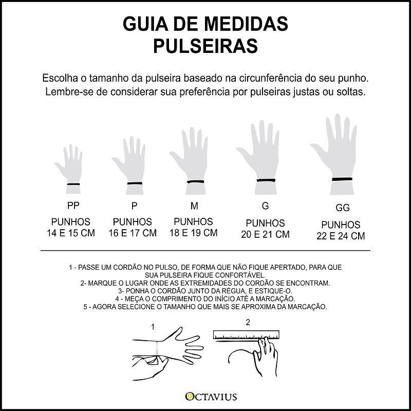 PULSEIRA LEÃO COM ESFERAS EM PRATA 925 + LAVA VULCÂNICA + SOL
