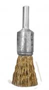 """Escova de Aço Tipo Pincel Ondulado Latonado 17mm x 1/4"""" Norton"""