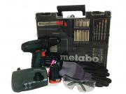 Kit de Ferramentas 75 Pcs c/ Parafusadeira 10.8v Powermaxx Metabo 600385870
