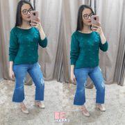 calça pantacourt  jeans desfiada