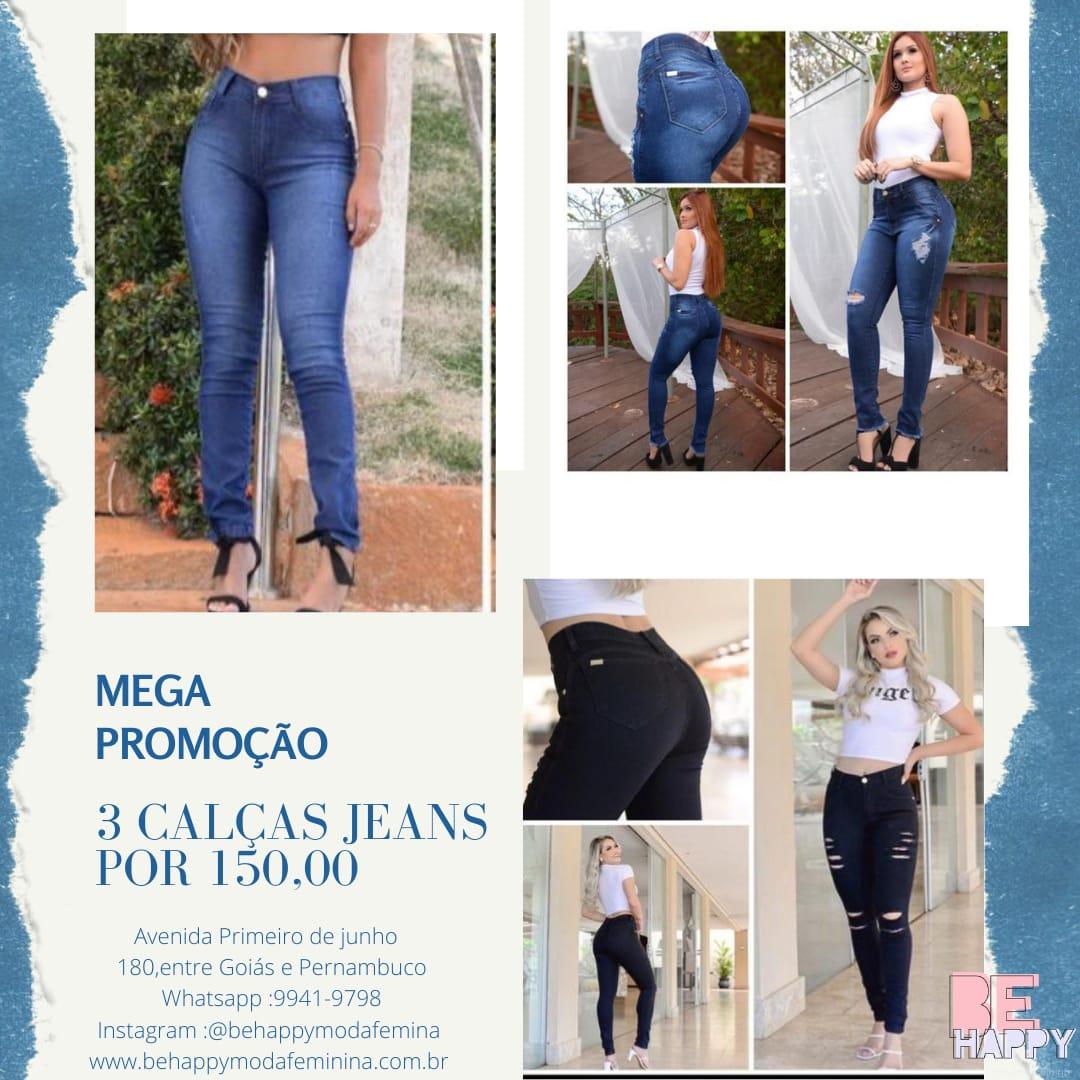 3 calças jeans
