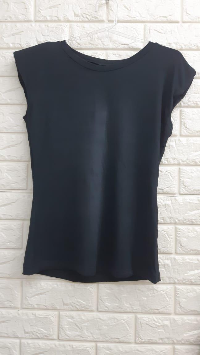 Blusa Feminina Modelo Tshirt tee musle ombreira  - BE HAPPY MODA FEMININA