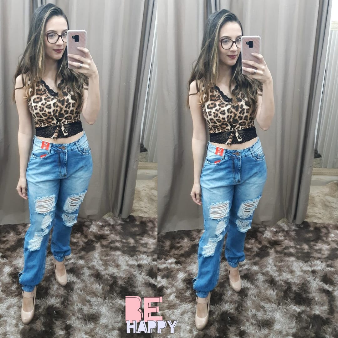 Calça Carmen Boyfriend  - BE HAPPY MODA FEMININA